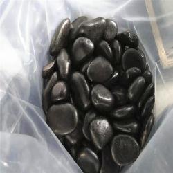 정원사 노릇을 하기를 위한 자연적인 까만 Polished 자갈 돌