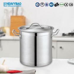 Heavybao grande estoque de aço inoxidável polaco potes de cozinha para uso comercial