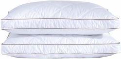 Almofadas de penas de ganso natural para dormir travesseiro baixo 100% algodão Downproof Tampa almofadas almofadas de penas de ganso natural para baixo