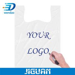Personalización de aceptar el regalo promocional bolsos PVA Camiseta plástico Compostable plegable Soluble en agua 100% biodegradables bolsas de embalaje de medicina