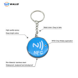 소형 ABS125kHz RFID 중요한 꼬리표 13.56MHz Em4200 칩 접근 제한 Laser 일련 번호를 가진 지능적인 칩 Tk28 문 Keyfob