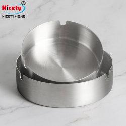 China Fabrik Großhandel Custom Aschenbecher Metall Edelstahl Aschenbecher Silber Aschenbecher Für Den Außenbereich