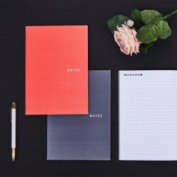 Paquete de 2 cuaderno de papel de los suministros de oficina dependiente de coser
