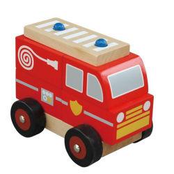 Modèle en bois coloré petite voiture jouet pour les enfants
