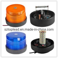 Spitzenleitungskabel PC Objektiv-niedrige doppelte grelle Gummixenonlampe, LED-Drehnotblinkendes warnendes Leuchtfeuer-Licht