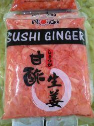 Le sushi congelés de gingembre, de gingembre mariné
