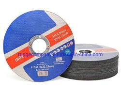 doppie reti di 115mm che tagliano la ruota a disco per gli attrezze Inox/acciaio inossidabile, metallo, ferro, lamiera sottile, materie plastiche