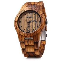 Bewell Eco-Friendly Dom Madeira homens relógio de pulso