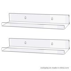 Zwevende Plexiglas Toy Display Shelf Clear Acrylic Wall Organizer planken