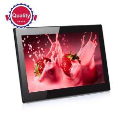 شاشة LCD التفاعلية لنظام Android الداخلي بحجم 10 بوصات رقمية لإطار الصور شاشة عرض اللافتات مع ساعة العالم