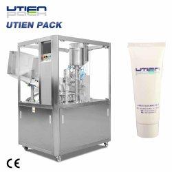 Kosmetische füllende dichtende Triming Dattel-Kodierung-Selbstverpackmaschine
