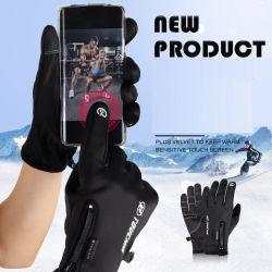 Guanti caldi di tocco di alta qualità dello schermo dei guanti del telefono di inverno astuto antiscorrimento impermeabile del ridurre in pani per lo sci di sport esterni
