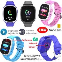 Los niños Anti-Lost Smart Tracker GPS reloj con alarma de despegue D15W