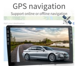 نظام Android Auto ستريو للسيارة بحجم DIN مزدوج تسع بوصات مع Parking Reverse View (عرض الرجوع