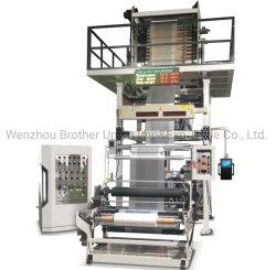 High-Speed ABA, ab HDPE, LDPE, CaCO3, dreilagig, Zwei-Schicht-Extruder mit Dosing System Kunststoff-Film Blasmaschine