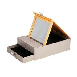 Cosmética Natural único Cuadro espejo cajón dentro de la parte inferior de la empresa regalos de promoción de los cuadros de maquillaje