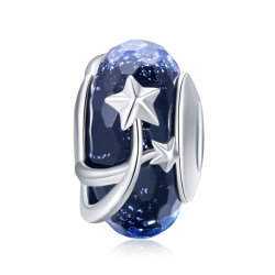 925 Sterling Silver Star fleur perles de verre de Murano monter Bracelets Bijoux bricolage