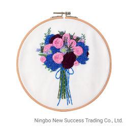 DIY 刺繍のスタータキットの針細工花柄の交差ステッチ