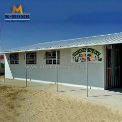 Estrutura de aço Hut Casas metálicas acessíveis Prefab moderna Escola