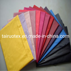 Tejido de tafetán de poliéster Forro de prendas de vestir de tejido de revestimiento de la bolsa de tela