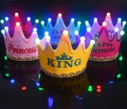 Светодиодный индикатор день рождения детей-игрушка Red Hat одень с Короны