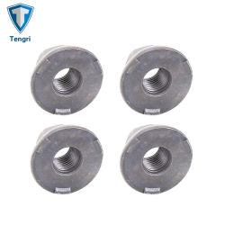 Made in China Óxido negro de acero al carbono M5-M16 de la soldadura la tuerca hexagonal personalizada con la brida