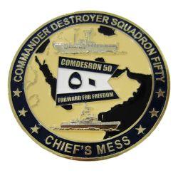 Custom conmemorativa de metal 3D Soft enamel dorado antiguo ejército militar de souvenirs de recuerdo grabado Premio Desafío Moneda para regalo de promoción (265)