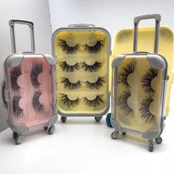 O logotipo personalizado Caixa de Embalagem Eyelash 3D Real de peles de vison amarre