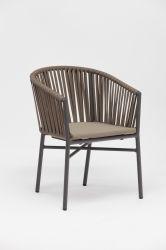 Corda de novo design feitos à mão da Estrutura de alumínio pátio ajardinado de boa qualidade Cadeira de mobiliário de exterior