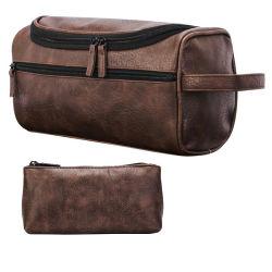 غسل وغرغرة حقيبة كوريّ صيغة يد - يمسك بنية حقيبة كلاب حمّام حقيبة متعدّد وظائف تخزين حقيبة مسيكة [بو] جلد