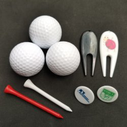 Sfera di golf bianca pura del regalo di promozione di marchio di colore 2-Layer Cunstom