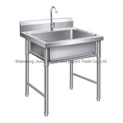 Commercial bol unique en acier inoxydable poli 304 ustensiles de cuisine évier de cuisine
