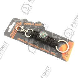 Carabinerの屋外の手錠のKeychain多機能の結ぶロープのキーホルダー