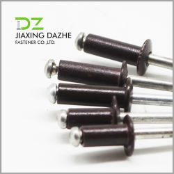 الصين أداة تثبيت المورّد DIN7337 الألومنيوم الصلب مفتوحة النوع الرأس القبة مسامير البرشام العمياء