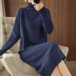 جمليّة نساء لباس سيدات [كنّتّن] فستان [سويتر] مع [كجمرّي] بول الملابس الخشنة