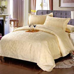 새로운 판매 60s 자카드 직물 백색 면 침대 시트는 놓았다 (JRD102)