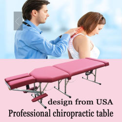 Table de chiropratique portable en acier inoxydable Table de massage Tuina Table Mtl-010