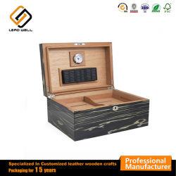 高品質の木製の100シガーの保湿箱のヒマラヤスギのシガー箱