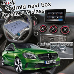 Sistema de Navegação GPS Android Lsailt Interface de vídeo para a Mercedes-Benz uma Classe Ntg 5.0 Áudio Comando20 Youtube Waze Yandex Carplay Android Market opcional Automático