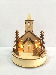 ليزر جميل يقطع خشبيّة عيد ميلاد المسيح منزل زخرفة