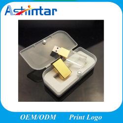 Azionamento dell'istantaneo dell'azionamento USB3.0/USB2.0 della penna del disco istantaneo del USB dell'a cristallo dell'oro del bastone del USB