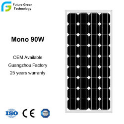 90W de alta calidad solar monocristalino Módulo para el sistema de calefacción solar