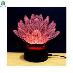 lamp van 3D LEIDENE Optische illusie van de Nacht de Lichte