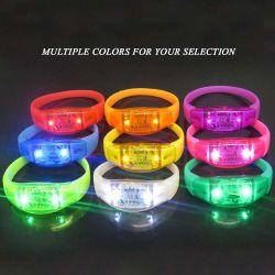 Pulsera pulsera de silicona de LED para fiestas y eventos Concierto Vocal