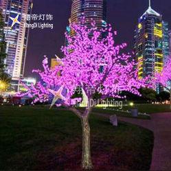 3,5 m de l'intérieur du paysage artificiel de changement de couleur Lowes LED éclairés de plein air Palm Tree