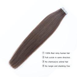 Remy Menschenhaar-Extensionen Balayage Haut-nahtloses natürliches reales europäisches einschlaghaar-anhaftendes Extensions-Beispielsalon-Haar auf Band aufnehmen