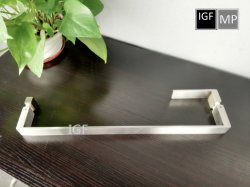 Handvat het van uitstekende kwaliteit van de Deur van het Glas van de Trekkracht van het Roestvrij staal met het Handvat van de Hefboom voor de Zaal van de Douche