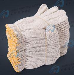 600g Polyester-Cotton Обесцвеченными шерстяной хлопчатобумажная пряжа перчатки, Wear-Resistant Загустеет и затягивает сварной угольной шахты защитные перчатки из хлопка