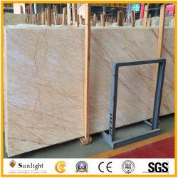 Pavimentazione di marmo beige del ragno delle lastre dorate del marmo, controsoffitto, mattonelle della parete, Vanitytop