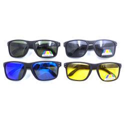Los nuevos tonos populares de la personalidad de los hombres de la moda de los ultraligeros deporte gafas de sol polarizadas